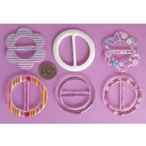 Accessories - 6 pc T-Shirt Clip Slide Scarf Ring Spring Summer